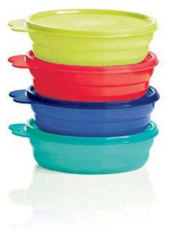 Tupperware Microwave Cereal Bowls 2018 Red, Green, Blue, Emb