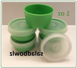 TUPPERWARE New SMIDGET SET OF 5 Smidgets w/ Sheer Seals in G