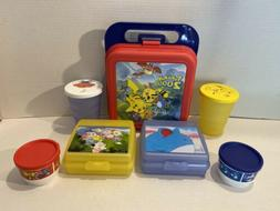 Tupperware Pokemon 2000 Lunch Box, Sandwich Keepers, Tumbler