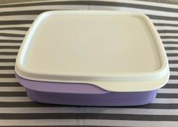 Tupperware Square Packette Divided Dish Lunch Container 2 Cu