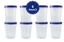 Twist Top Food Containers Screw And Seal Lid 32 Oz Stackable