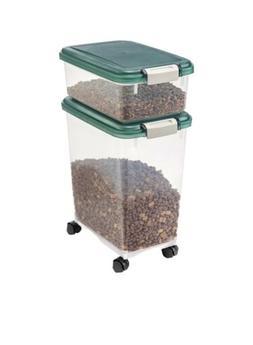 IRIS USA Airtight Pet Food & Treat Storage Container Combo,