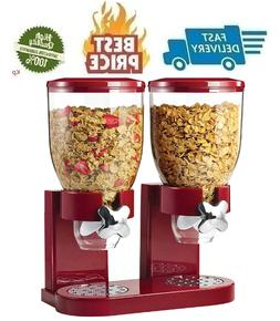 USA Dry Food Storage Double Cereal Dispenser Storage Contain