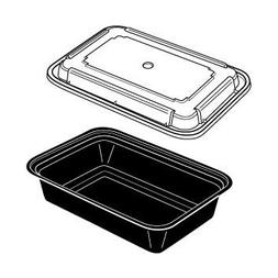 Newspring Versatainer Rectangular Microwaveable Container, 3