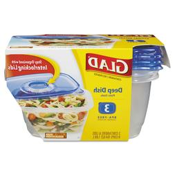 GladWare Deep Dish Food Storage Containers 64 oz 3/Pack 7004
