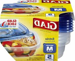 Gladware Entrée Food Storage Containers, Medium Square Hold