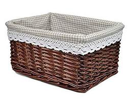 Black Temptation Wicker Basket Food Storage Basket Cosmetic