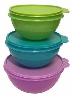 New Tupperware Wonderlier Bowl Set 3 in New Colors