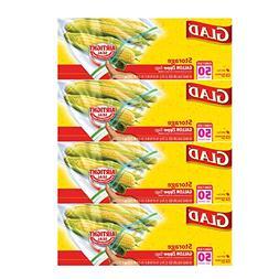 Glad Zipper Food Storage Plastic Bags - Gallon - 50 Count -