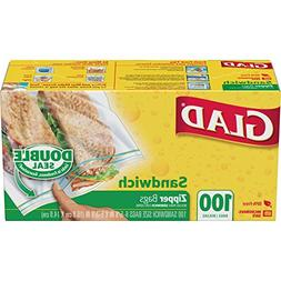 Glad Zipper Sandwich Bags - 100Bags.